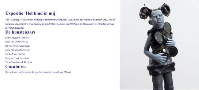 Tentoonstelling 'Het kind in mij' in cultuurhuis Zinder in Tiel
