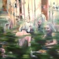 In the woods - olieverf/doek - 150 x 180 cm